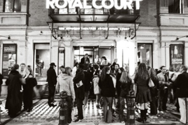 Archive image outside the Royal Court