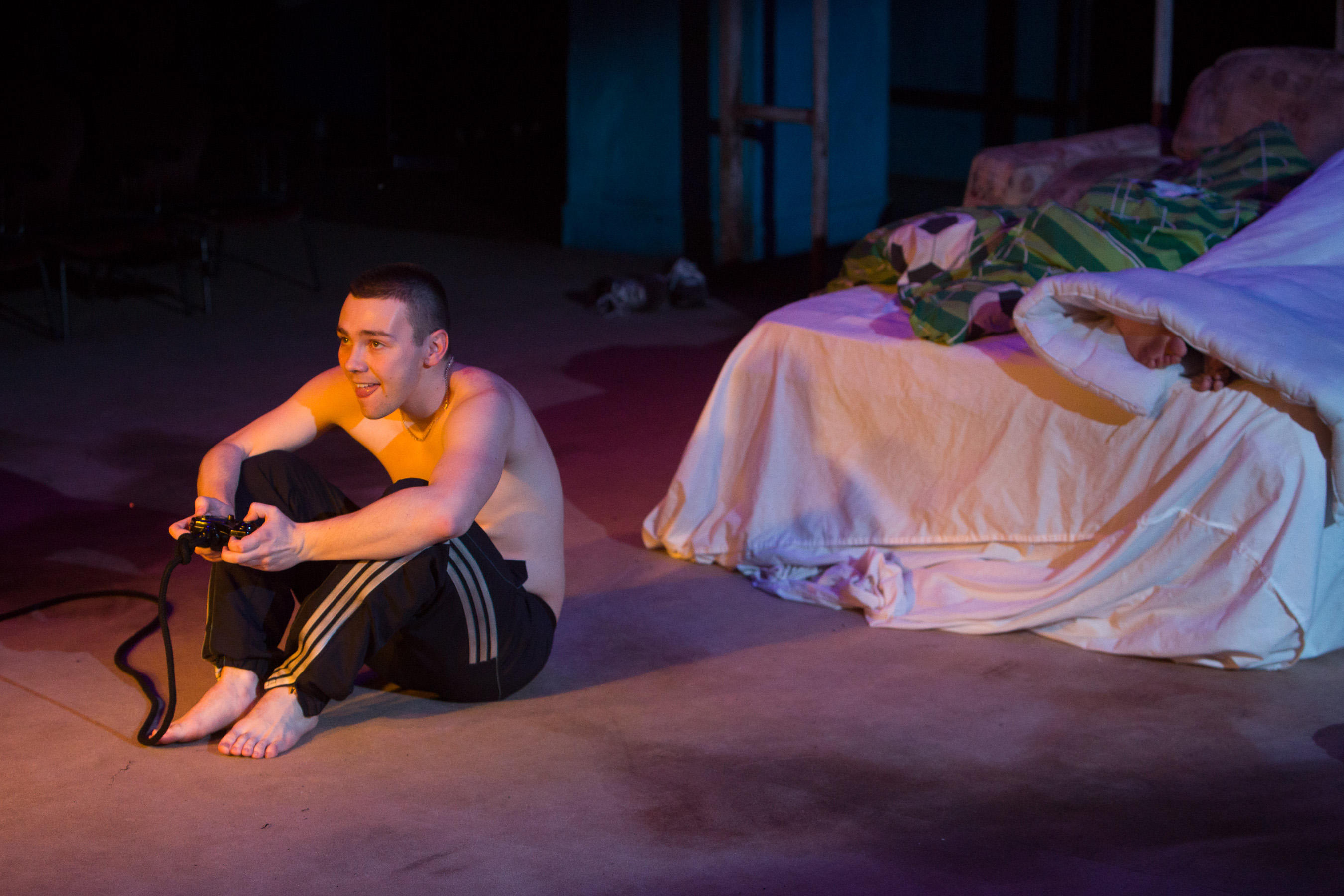 12 Jake Davies as Bobby in YEN by Anna Jordan (The Studio, Royal Exchange Theate until 7 March). Photo - Jonathan Keenan
