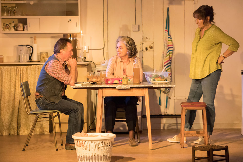 Ron Cook, Francesca Annis and Deborah Findlay in The Children by Lucy Kirkwood (Photo: Johan Persson)