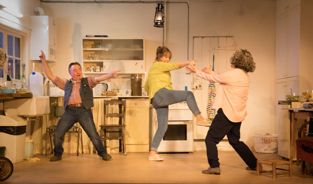 Ron Cook, Deborah Findlay and Francesca Annis in The Children by Lucy Kirkwood (Photo: Johan Persson)