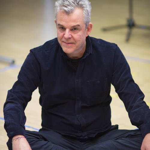 Danny Huston in rehearsal for The Kid Stays in the Picture (Photo: Sarah Ainslie)