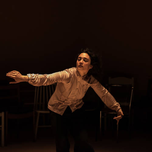 Beatrice Scirocchi in Nuclear War by Simon Stephens (Photo: Chloe Lamford)