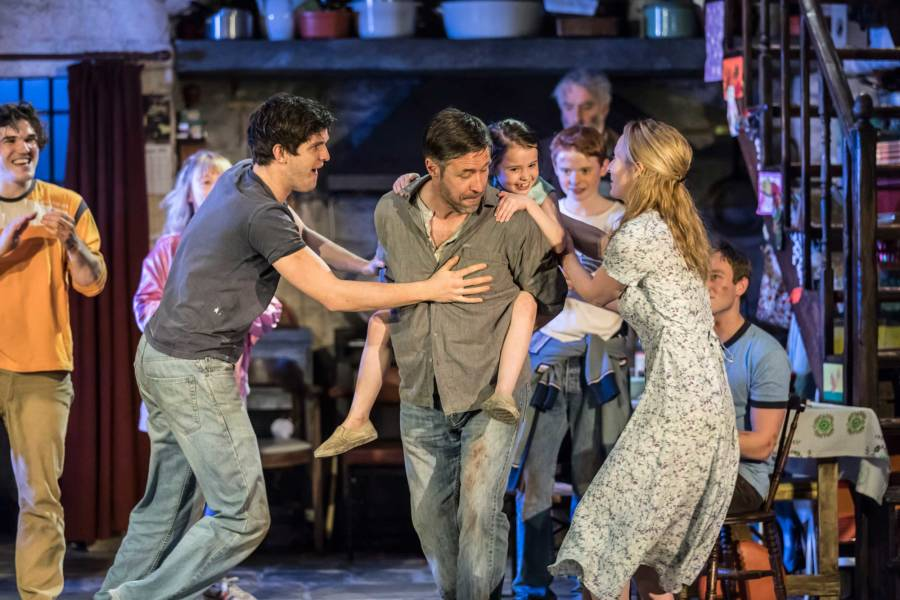 Fra Fee, Carla Langley, Niall Wright, Paddy Considine, Sophia Ally, Michael McCarthy, John Hodgkinson, Genevieve O'Reilly and Rob Malone in The Ferryman by Jez Butterworth (Photo: Johan Persson)