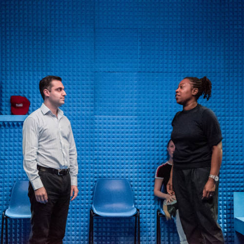 Sargon Yelda and Michele Austin in Lights Out by Stacey Gregg (Photo: Chloe Lamford)