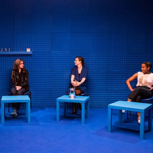 Siobhan Redmond, Deborah Pearson and Amaka Okafor in It's All Made Up by Deborah Pearson (Photo: Chloe Lamford)