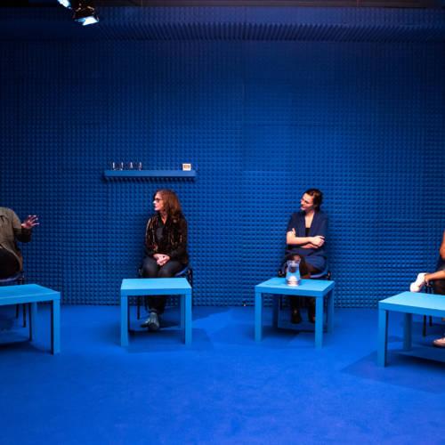 Richard Lumsden, Siobhan Redmond, Deborah Pearson and Amaka Okafor in It's All Made Up by Deborah Pearson (Photo: Chloe Lamford)