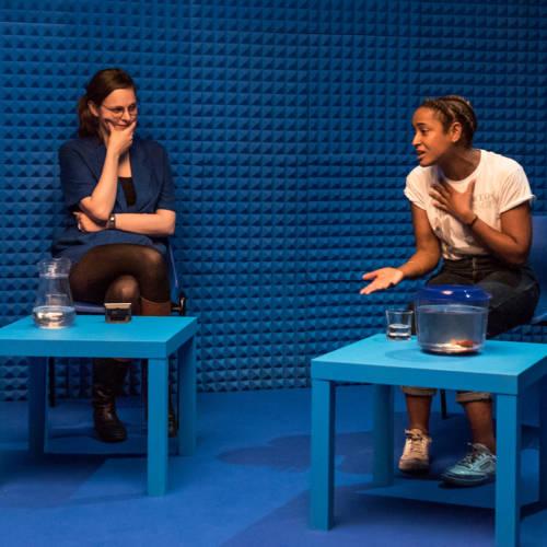 Deborah Pearson and Amaka Okafor in It's All Made Up by Deborah Pearson (Photo: Chloe Lamford)