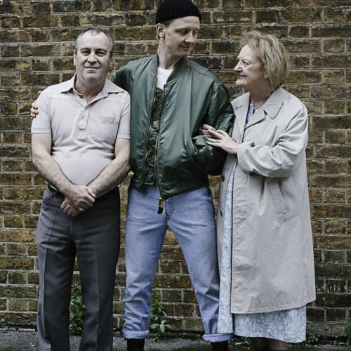 Mark Hadfield, Mike Noble and June Watson for Road by Jim Cartwright (Photo: Sarah Weal)