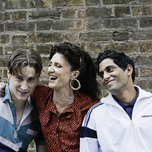 Dan Parr, Michelle Fairley and Shane Zaza for Road by Jim Cartwright (Photo: Sarah Weal)
