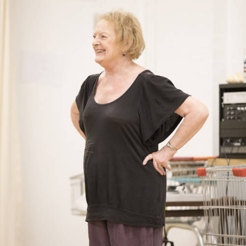 June Watson (Molly) in rehearsal for Road by Jim Cartwright (Photo: Johan Persson)