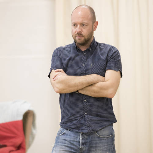 John Tiffany (Director) in rehearsal for Road by Jim Cartwright (Photo: Johan Persson)