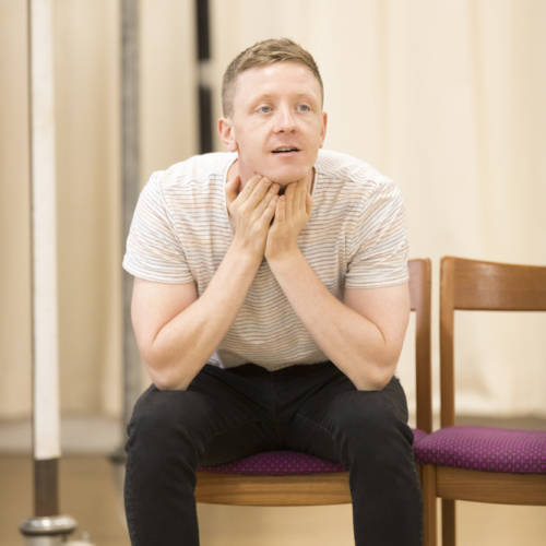 Mike Noble (Eddie/Skin-Lad) in rehearsal for Road by Jim Cartwright (Photo: Johan Persson)