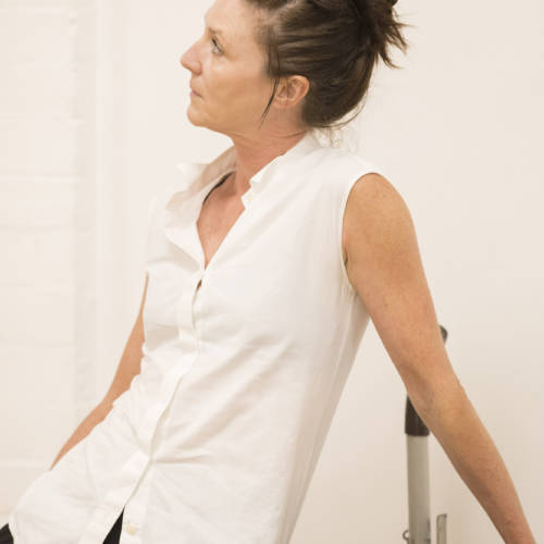 Michelle Fairley (Helen/Marion/Brenda) in rehearsal for Road by Jim Cartwright (Photo: Johan Persson)