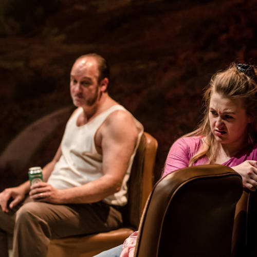 David Walker (Dad), Gemma Dobson (Sue). Photo: The Other Richard